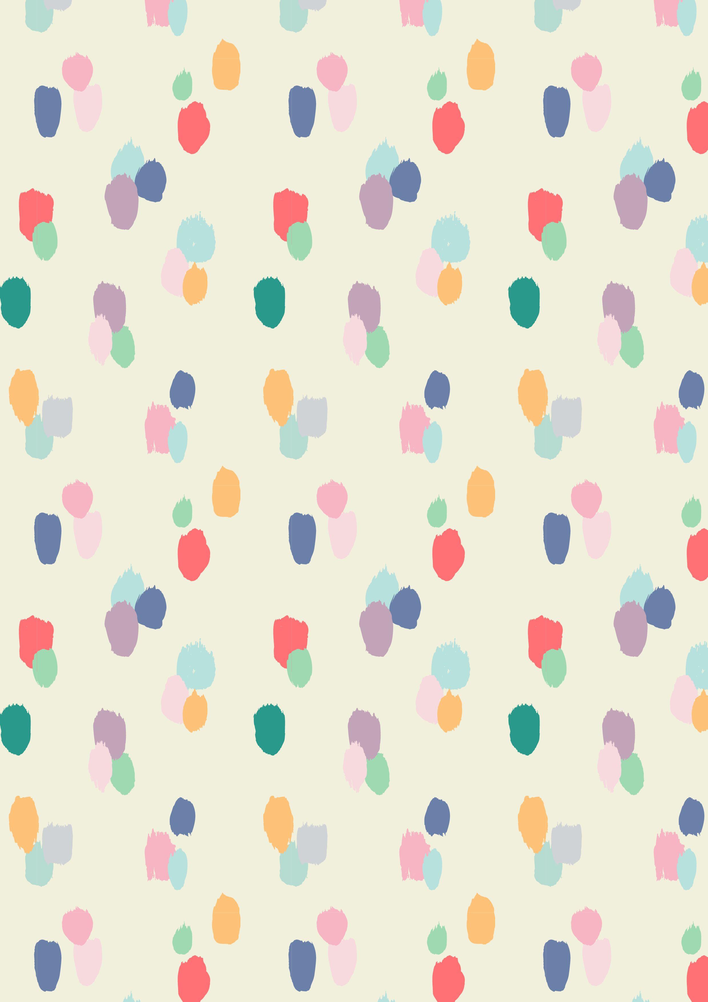 Painted dots pattern a w15 by studio sjoesjoe for Kids pattern fabric