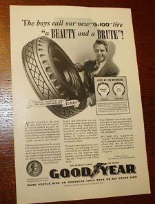 vintage goodyear ads | Vintage 1939 Goodyear G-100 Tires Ad Nat Geo