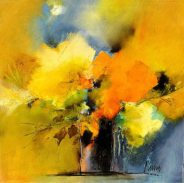 Gerard Mursic Artiste Peintre Breton Fleurs Abstraites
