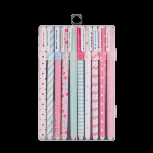 Coreano papelaria artigos de papelaria caneta Gel Pens Set 10 pcs cor aquarela Kandelia loja em todo o mundo