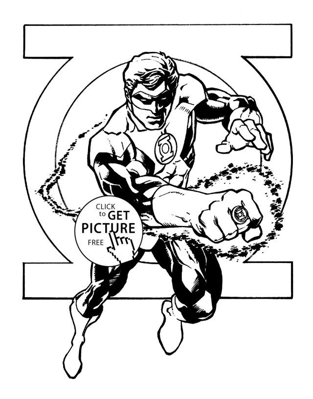 Amazing Picture of Green Lantern Coloring Pages . Green ...