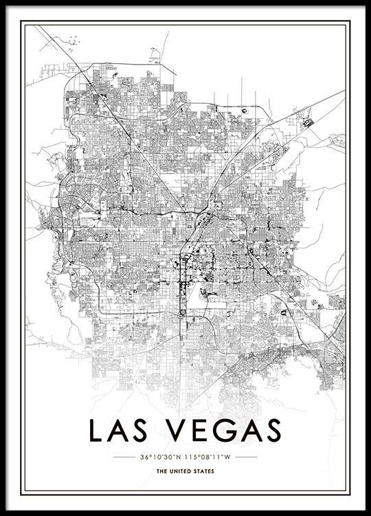 Las Vegas Poster in der Gruppe Poster / Größen und Formate / 50x70cm ...