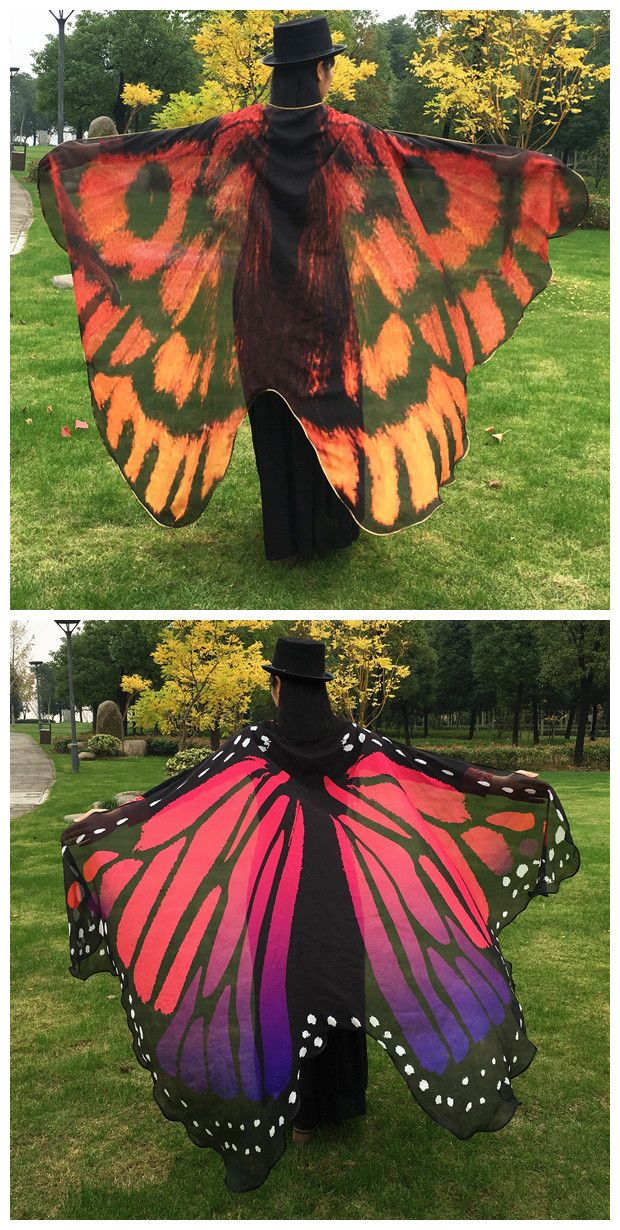 Butterfly Wing Cape Scarf- Halloween adult costume idea