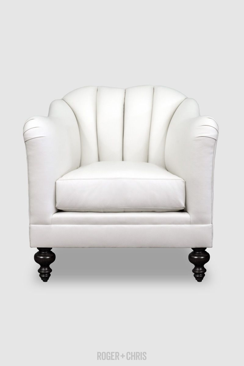Carla Armchair In Street Cred Cool Slopes White Leather Roger Chris In 2020 Leather Sofa Furniture Custom Sofa