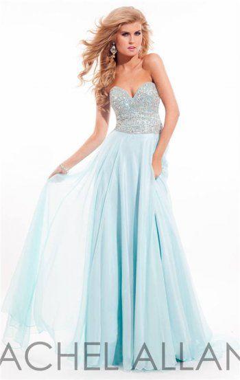 Beaded Long Blue Rachel Allan 5757 Prom Dresses 2015 | Prom Dresses ...