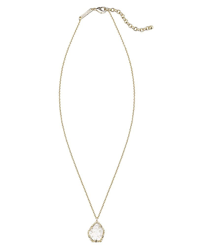 Catherine necklace in crackle crystal kendra scott