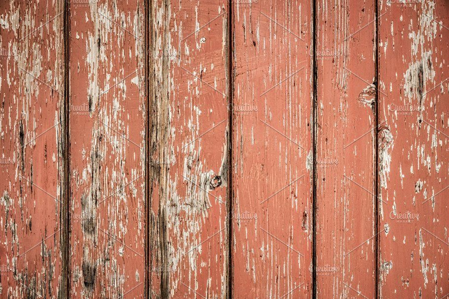 Red Rustic Vintage Wood 2 by RSQB - CreativeThings Co. on