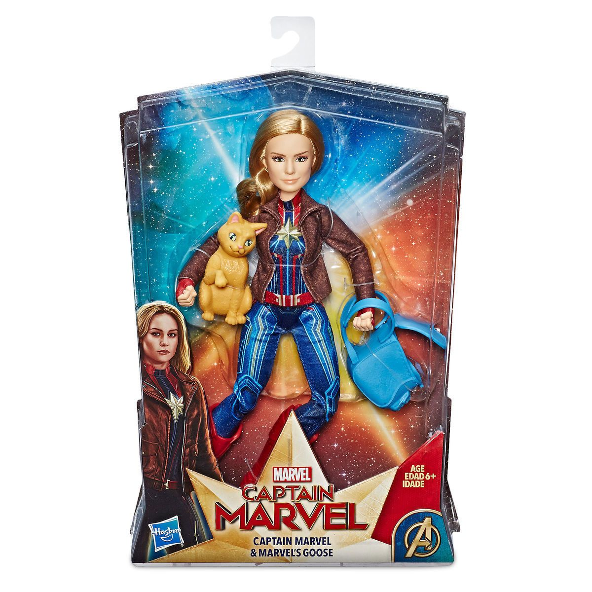 marvel's captain marvel and marvel's goose figure sethasbro in