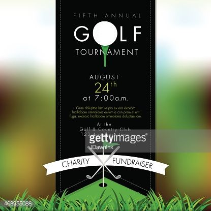 Vector Illustration Of Golf Tournament Invitation Layout