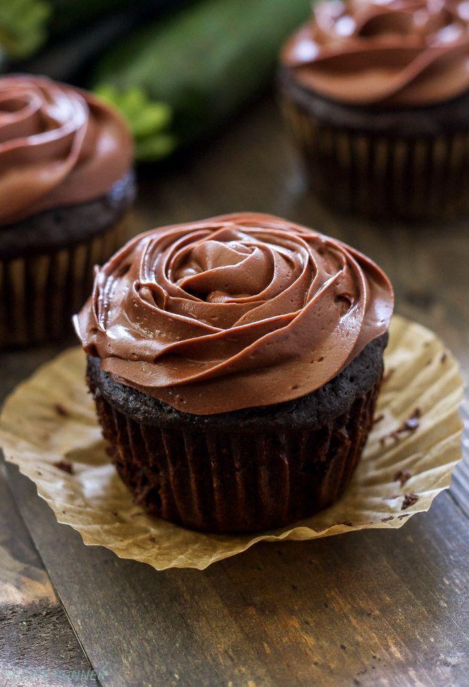 Skinny Chocolate Zucchini Cupcakes Whole Grain And Full Of
