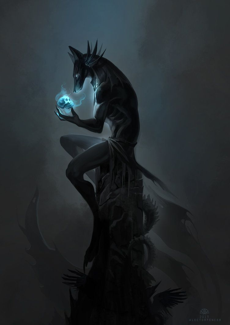 In Darkness he waits by AlectorFencer - Anubis   cthonic