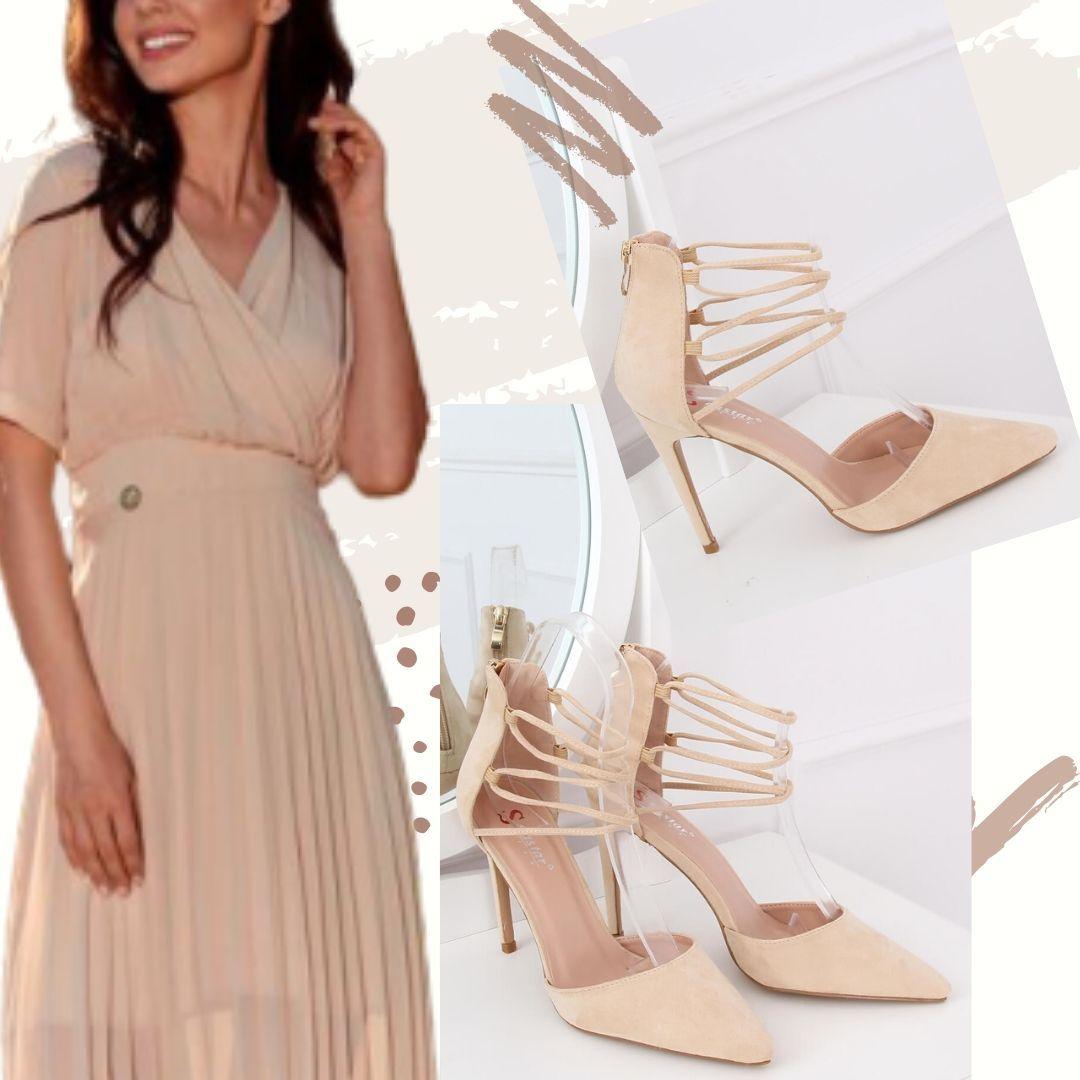 Stylizacja Letnia Bezowe Szpilki Dresses Fashion Wrap Dress