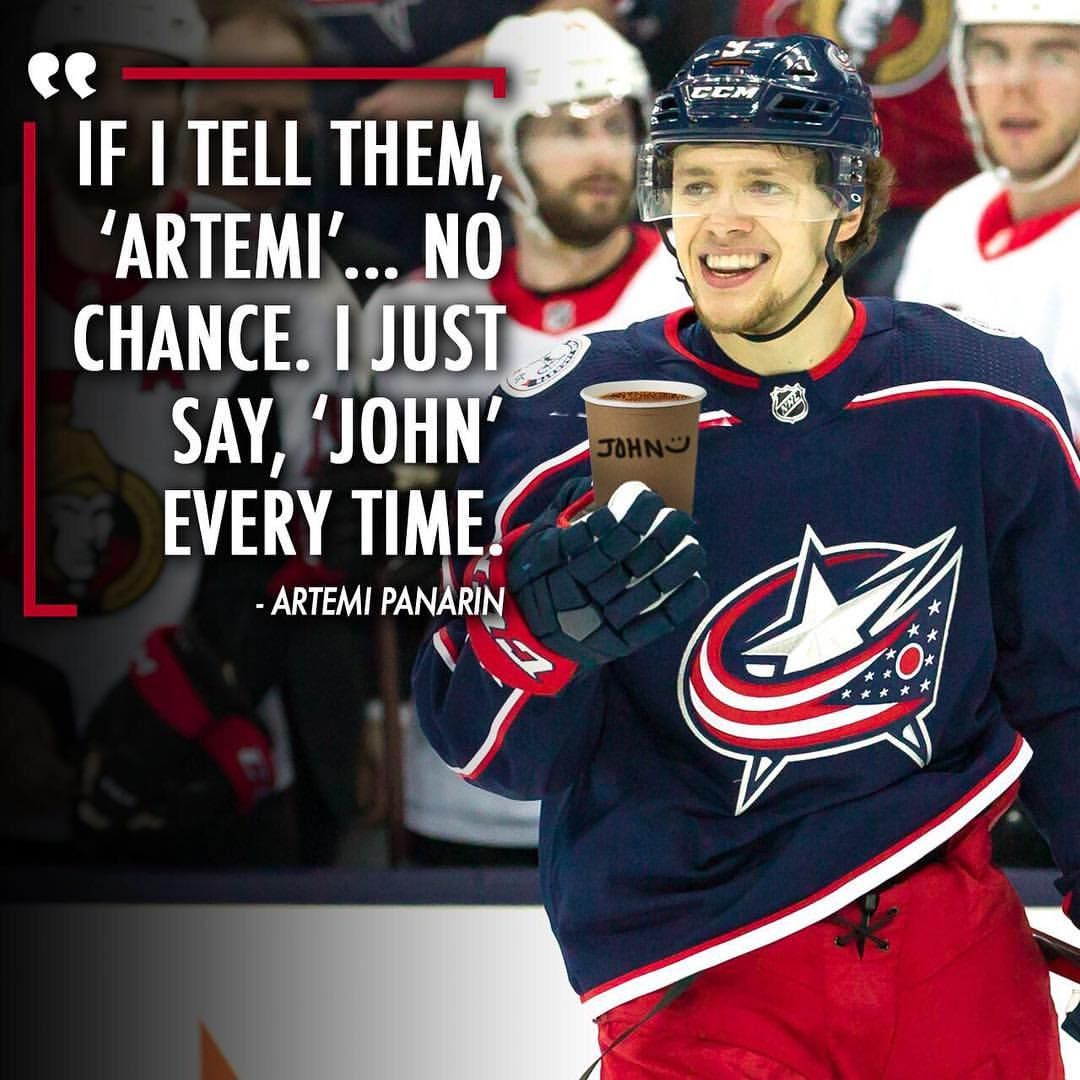 @artemiypanarin keeps it simple when a barista asks for his name. ☕ (Quote via TW/JacketsInsider)