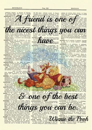 Details About Winnie The Pooh Dictionary Art Print Picture