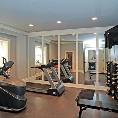 nice way to do wall mirrors gym photos design pictures