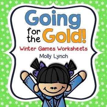 Winter Games {FREEBIE} Worksheets for 1st Grade!