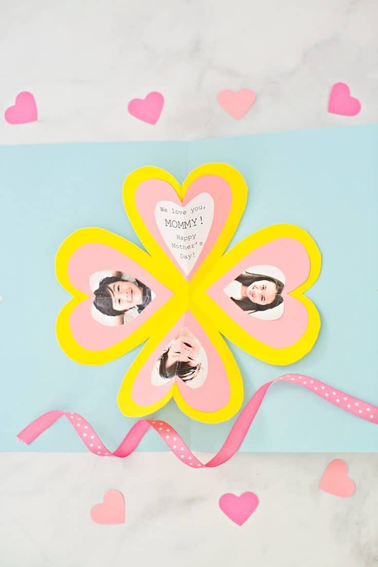 Get The Free Template To Make This Easy Heart Pop Up Card ...
