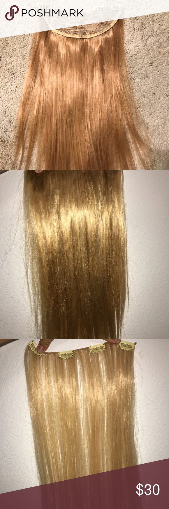 Clip In Hair Extensions 24 In Set Of 8 My Posh Picks Pinterest