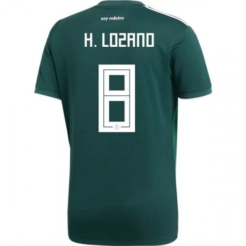 Men s Hirving Lozano  8 MEXICO Home Jersey 2018 World Cup  7b745665f