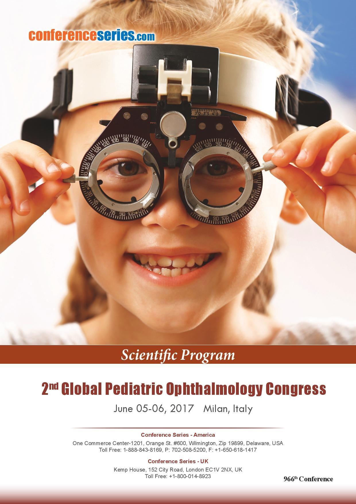2nd Global #Pediatric #Ophthalmology Congress June 05-06