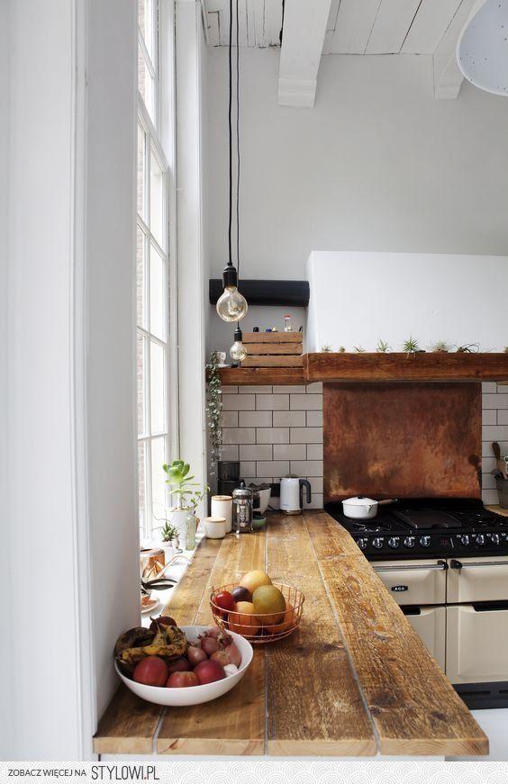 Mesada de madera | Cocinas | Pinterest | Madera, Cocinas y Fachada ...