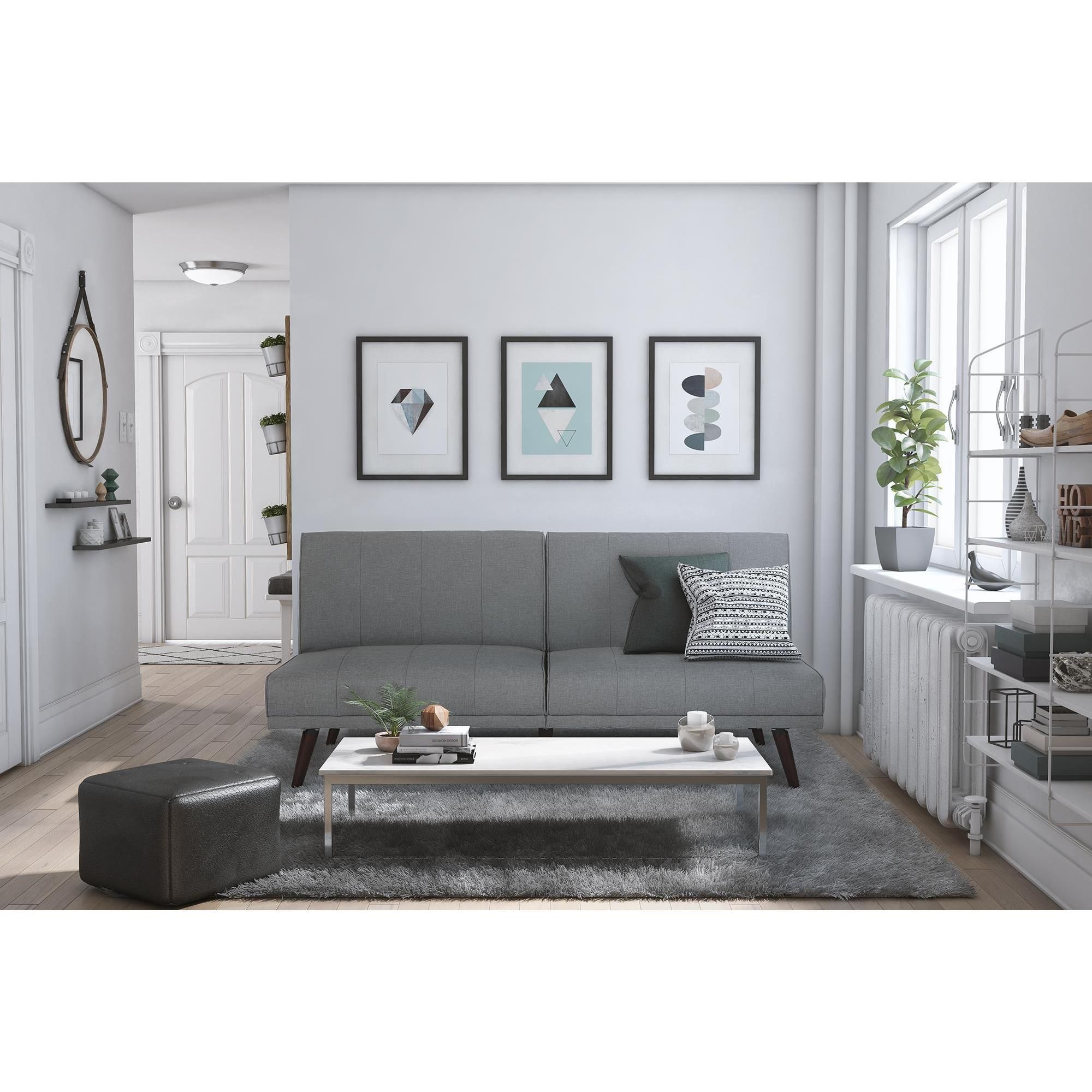 linen room futon couch pine convertible lone furniture itm gray dhp sleeper futons living sofa