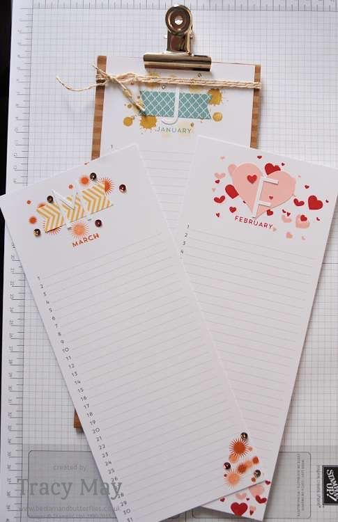 stampin up Tracy May independent demonstrator perpetual calendar planners