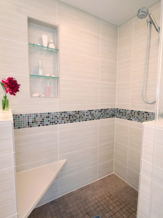 sensational bathroom design with the best design stunning clovernook bath shower design mosaic tile striped - Bathroom Designs With Mosaic Tiles