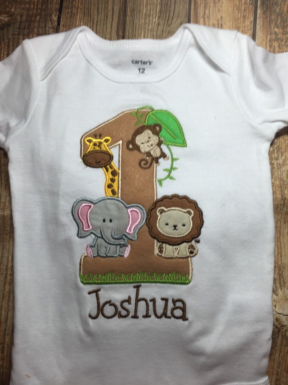 Boys first birthday jungle bodysuit or shirt, matching parent shirts ...