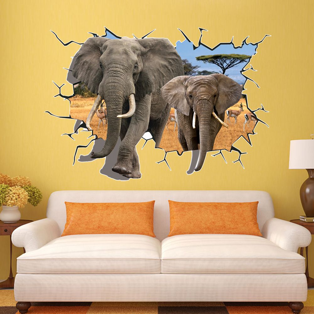 Miico 3D Creative PVC Wall Stickers Home Decor Mural Art Removable ...