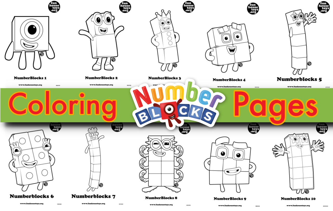Numberblocks Printable Coloring Pages