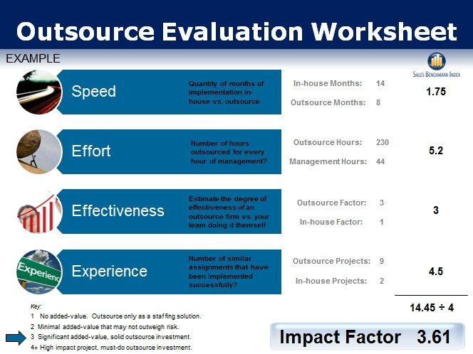 Outsource Insource Evaluation Aid  Best Practices  Benchmarks