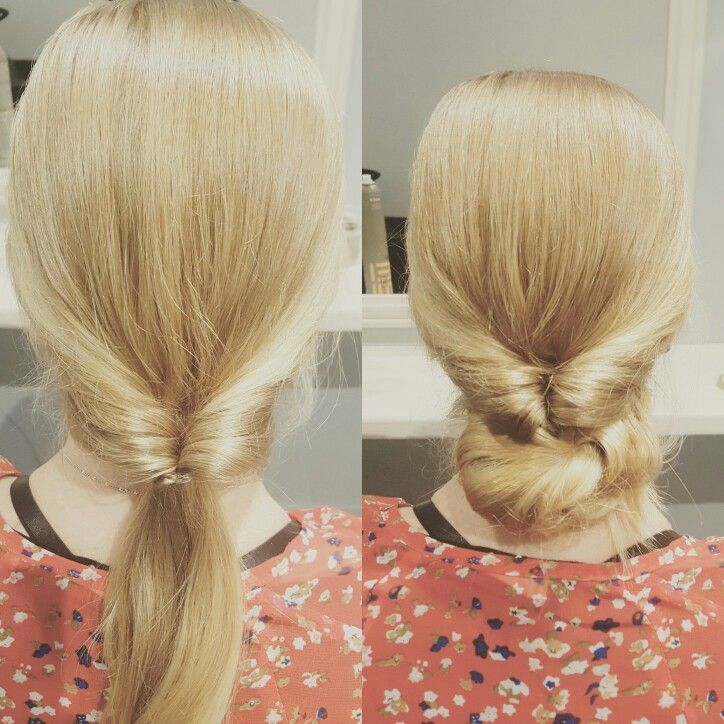 Workshop Simple Easy Hair Ups To Do At Home Twisted Pony And Then Add A Low Bun Image By Loco Hair Nzhai Hairdo Wedding Easy Hairstyles Easy Hair Up