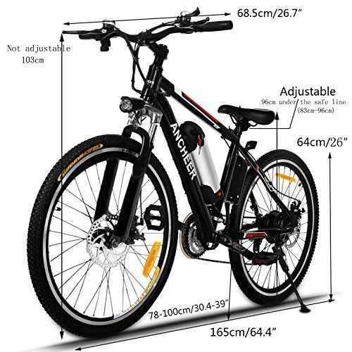 d4c06750e13 Ancheer 250W Electric Mountain Bike with Removable Lithium-Ion Battery and  Battery Charger 36V 8Ah #ebike #electriccycle #bike #bestelectricbike