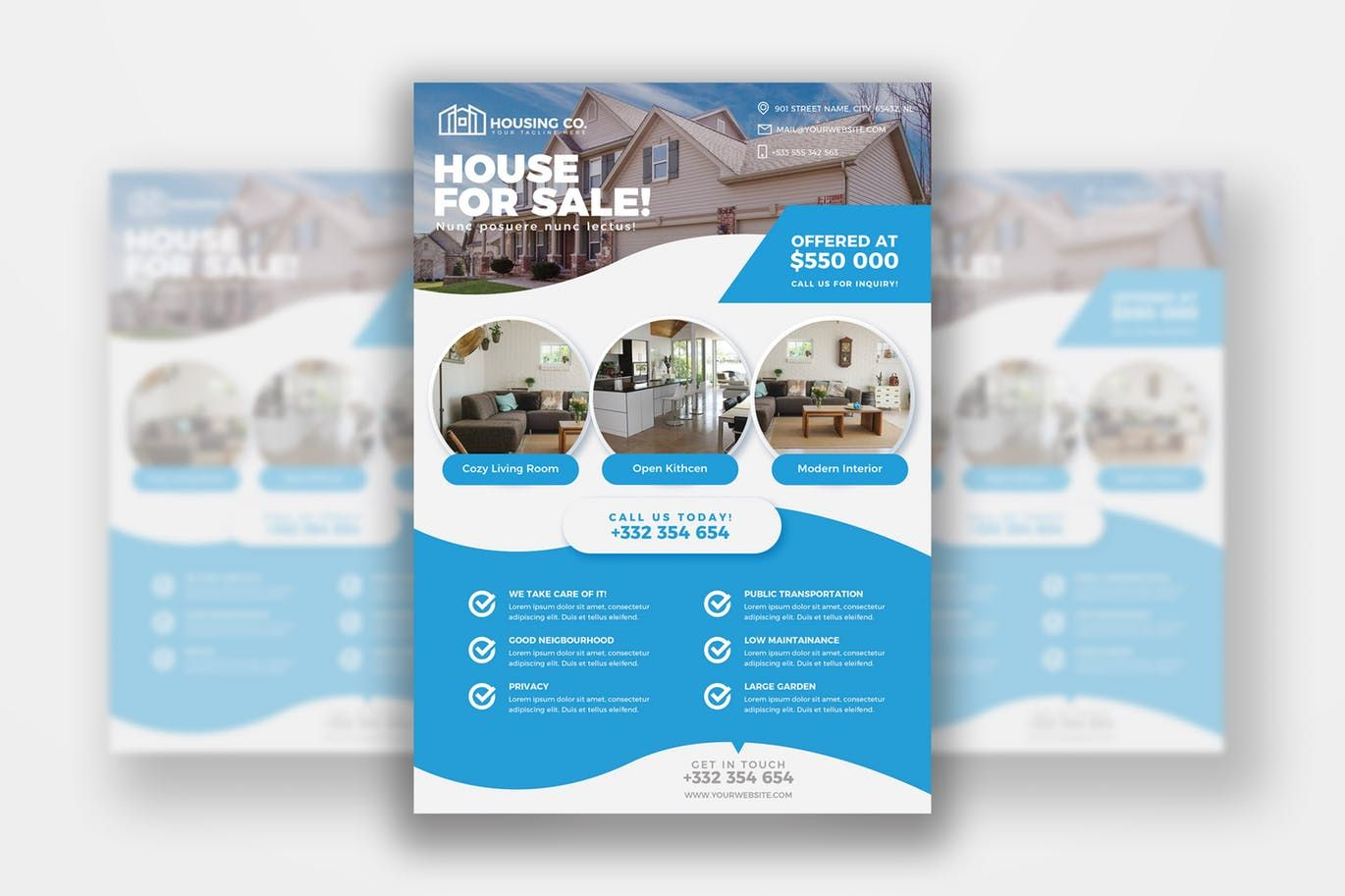 real estate flyer print template by andrewtimothy on