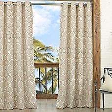 image of Parasol Totten Key Trellis 84-Inch Window Curtain Panel