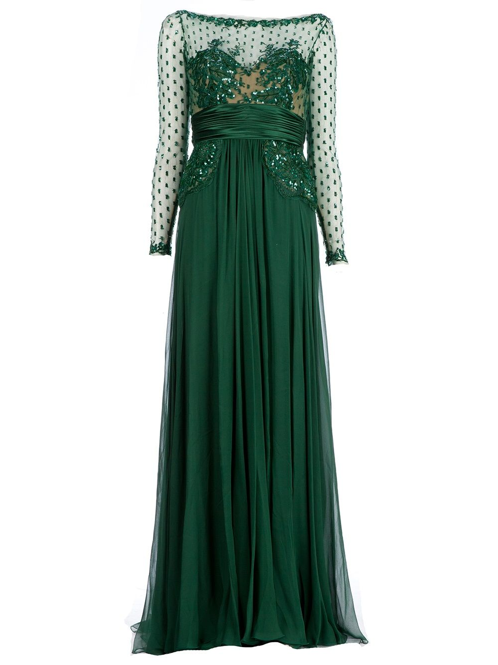Zuhair murad sequin embellished gown lueclaireur farfetch