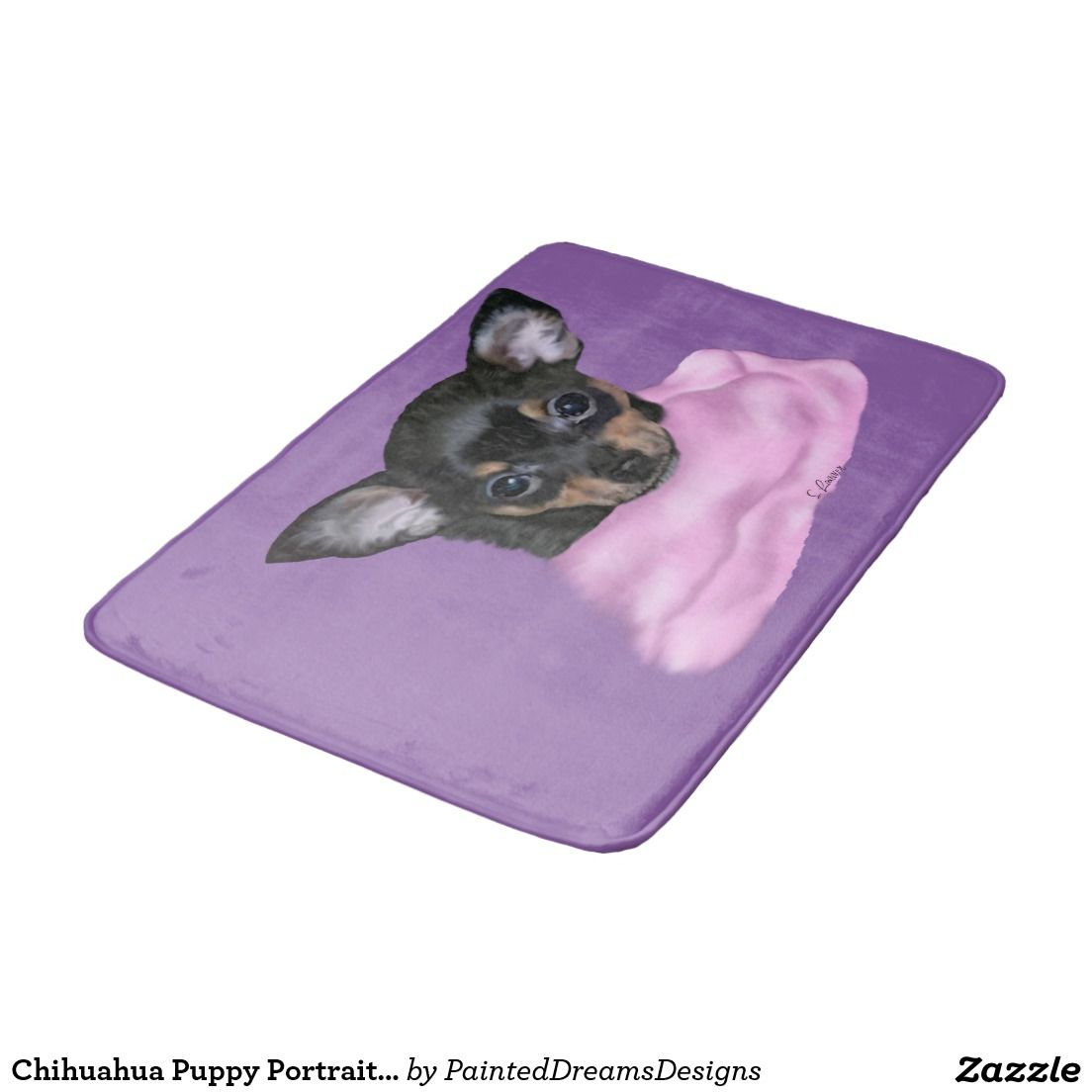 Black And Tan Chihuahua Puppy Bath Mat Zazzle Com Chihuahua