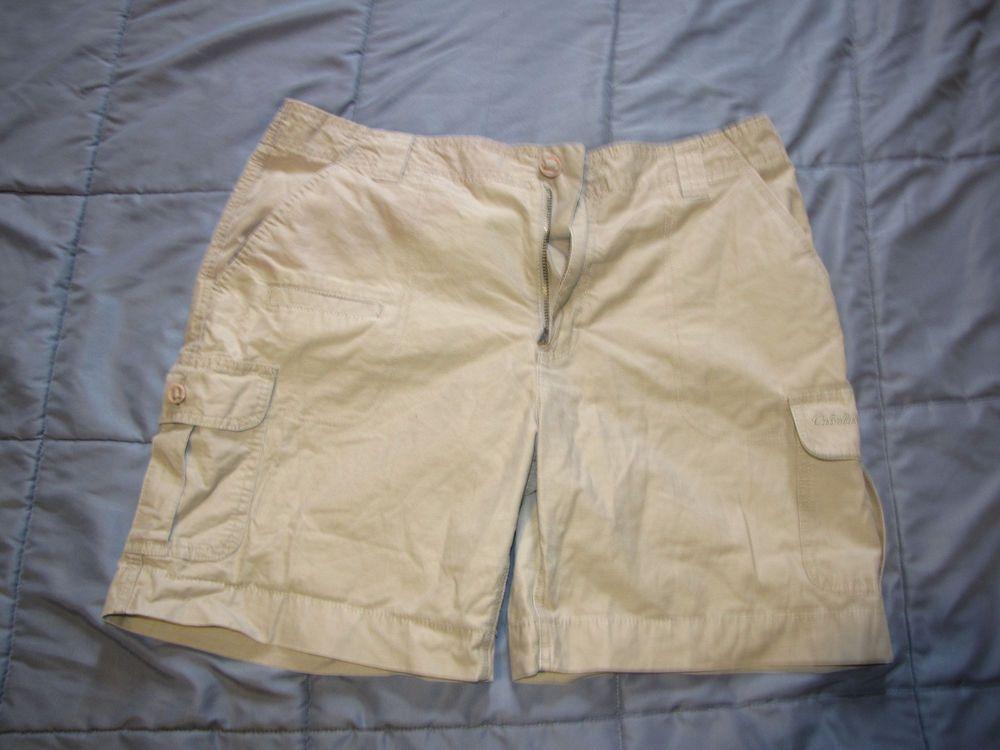 3b83364ba9 Cabelas Shorts Womens Size 14 Reg Walking Cargo Outdoor Pocket Flap Tan  #fashion #clothing