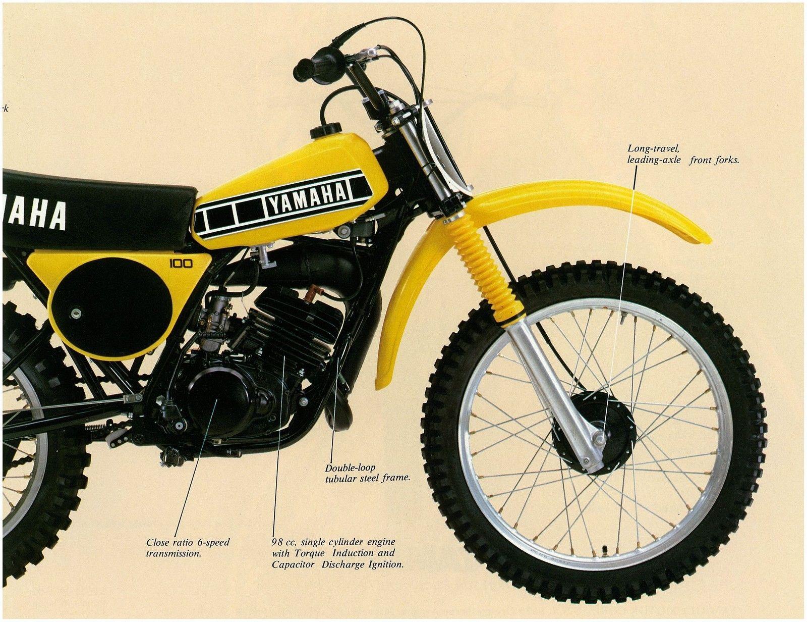 Yamaha Brochure Yz100 Yz100f 1979 Vmx Sales Catalog Repro Yamaha Vintage Bikes Yamaha 250