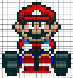 Minecraft Pixel Art Mario Kart Papercraftstylecom Super
