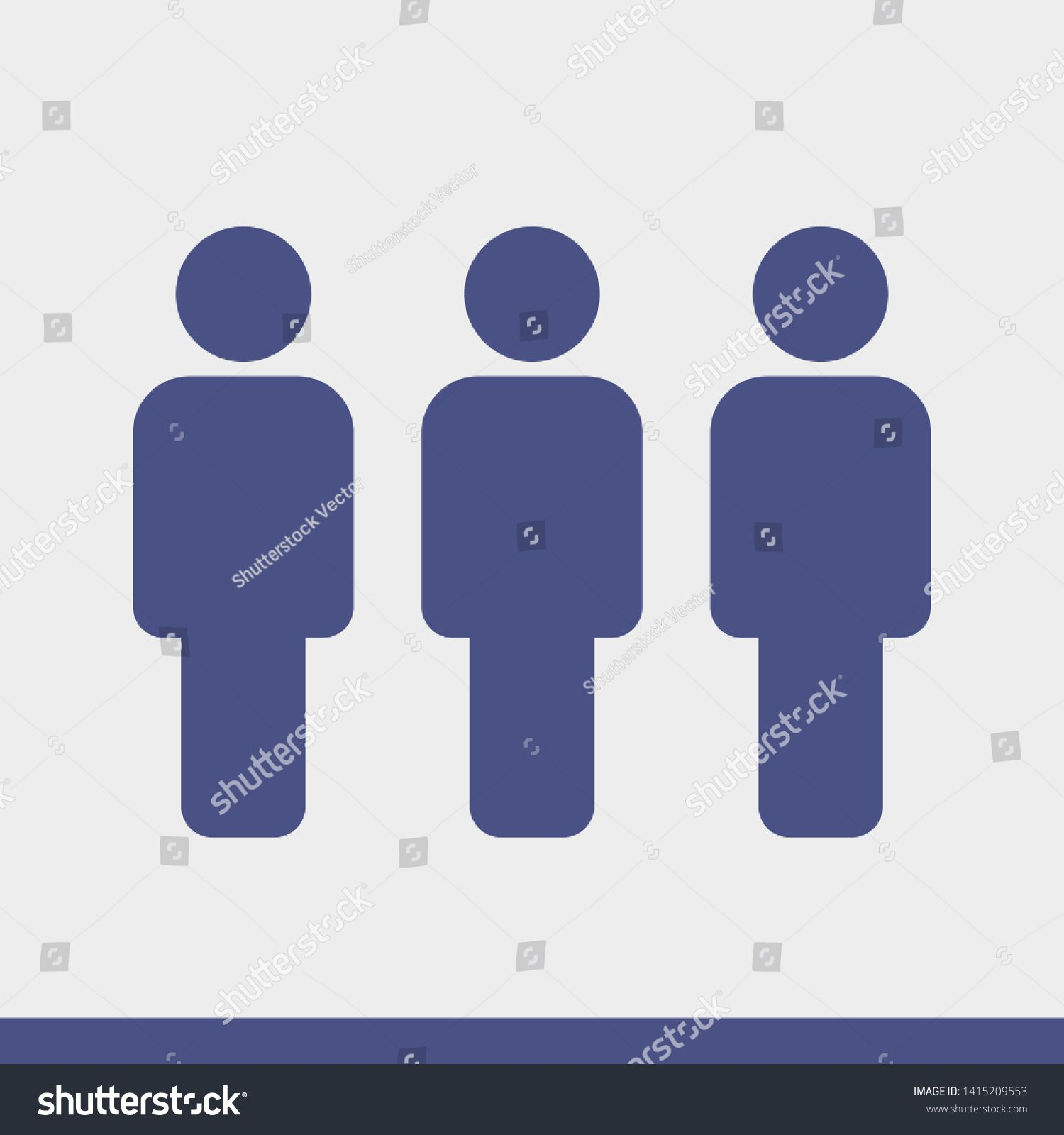 People Vector Icon Person Symbol Work Group Team Persons Crowd Vector Illustration Icon Group Of People Pictogram Isolated People Icon Vector Icons Symbols