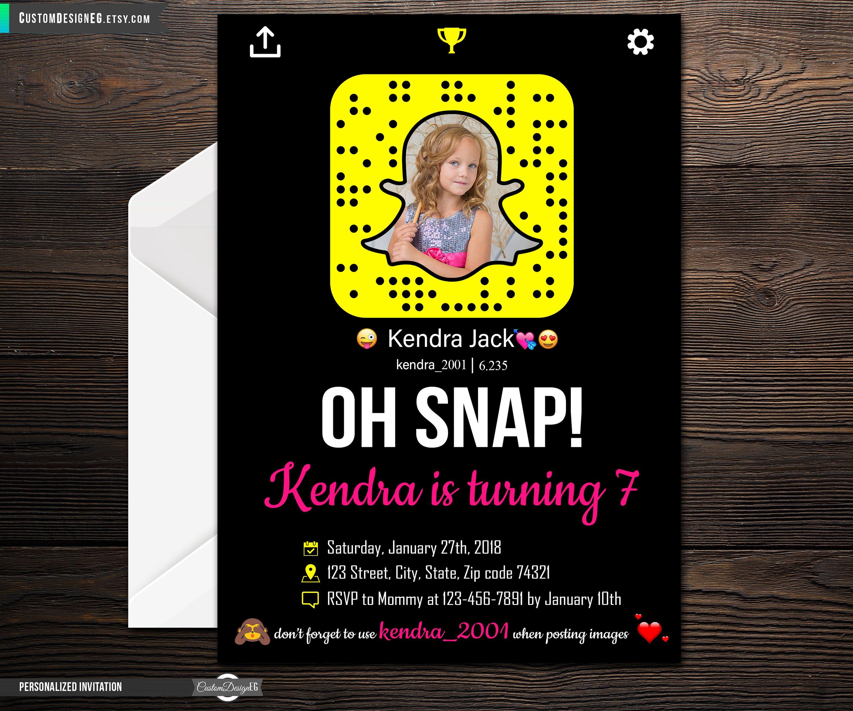Snapchat Birthday Invitation Snapchat Birthday Snapchat Birthday
