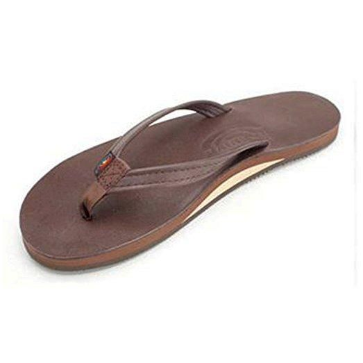fd8e60942bac Rainbow Women s Single Layer Premier Leather with Arch Support and a Narrow  Strap Mocha