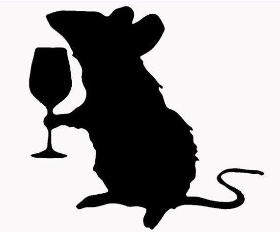 Rat With Wine Glass Vinyl Decal Sticker By Dogideli On