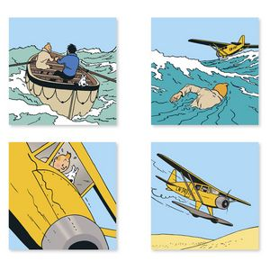 Tin Tin - Set of 4 posters. Cute for boys room.