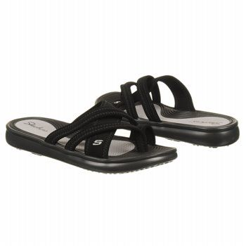 black skechers sandals