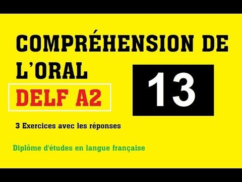 DELF A2 - Compréhension de l'oral (no 5) - YouTube | Le Français