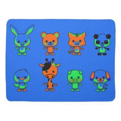 Cartoon Animal Friends Baby Blanket | Zazzle.com