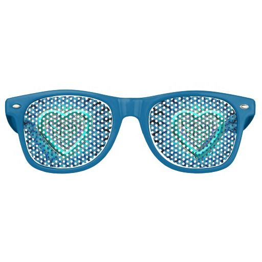 Celtic Heart Fractal Mandala Glasses